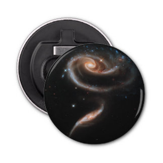 Rose of Galaxies Button Bottle Opener