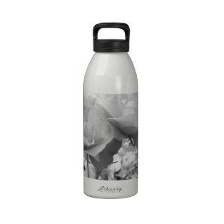 Rose of Love B/W Water Bottles