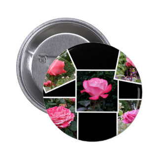 Rose of Love Collage Buttons
