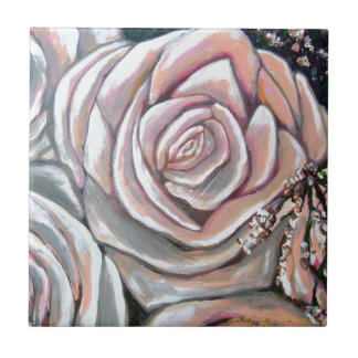 rose of love small square tile