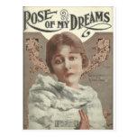 rose of my dreams mrs charlie chaplin postcard
