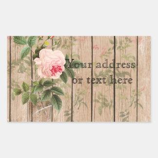 Rose of Orleans Ecru Mason Jar and Daffodils Rectangular Sticker