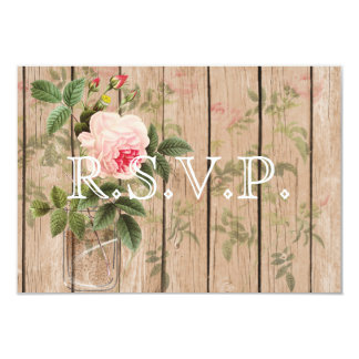 Rose of Orleans Ecru Wedding RSVP Card