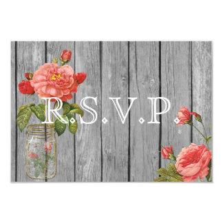 Rose of Orleans Grey Wedding RSVP Card
