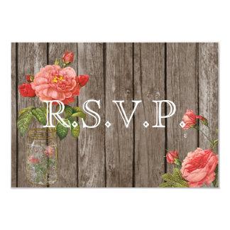 Rose of Orleans Sorrel Wedding RSVP Card