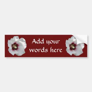 Rose of Sharon & Bee Bumper Sticker