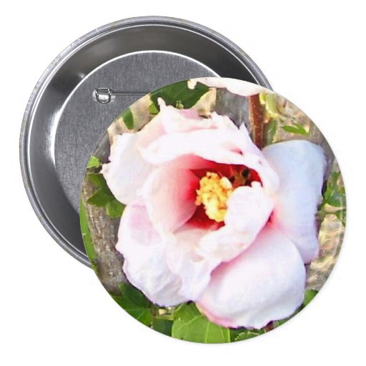 Rose of Sharon Corsage - Allergy-Free! Pinback Button