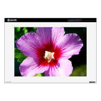"Rose of Sharon flower 15"" Laptop Skins"
