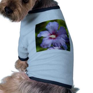 Rose of Sharon Hibiscus Blue purple Doggie Tshirt