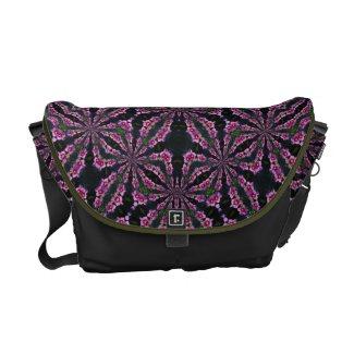 Rose of Sharon Kaleidoscope messenger bag