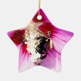 Rose of Sharon Stalker Ceramic Ornament