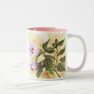 Rose of Sharon Two-Tone Coffee Mug
