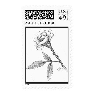 Rose of sorrows postage stamp
