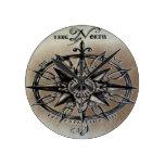 Rose of the Wind design Round Clock