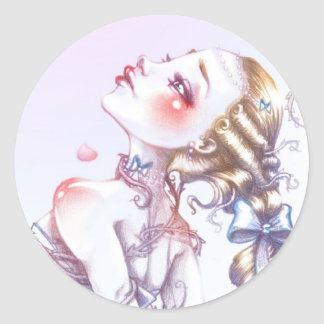 Rose of Versailles Classic Round Sticker