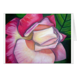 Rose Oil Painting Design By Joanne Casey Card