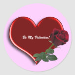 Rose On Heart 3d 1 Stickers