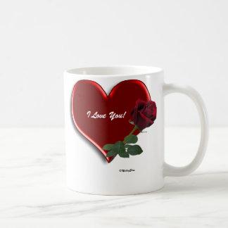 Rose On Hearts Valentine Mug