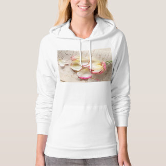 rose on old copybook page American Apparel hoodie