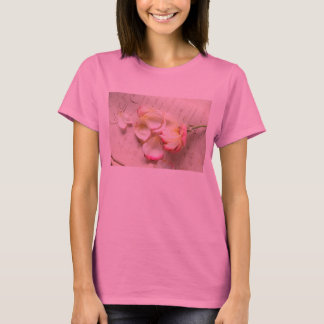 rose on old copybook page Hanes t-shirt