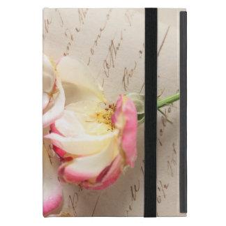 rose on old copybook page iPad mini kickstand case iPad Mini Cover
