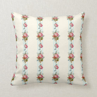 Rose on Powder Blue Pillow