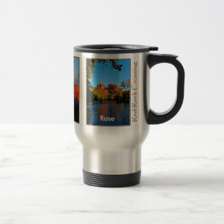 Rose on Red Rock Crossing Mug