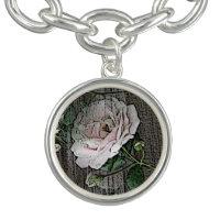 Rose on Weathered Wood Bracelets