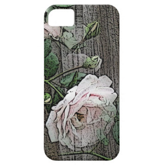 Rose on Weathered Wood iPhone 5/5S Case