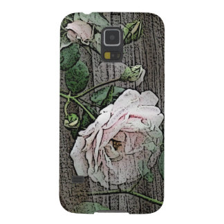 Rose on Weathered Wood Galaxy S5 Case