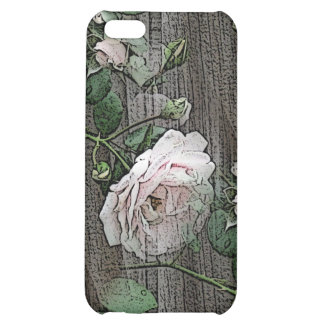 Rose on Weathered Wood iPhone 5C Cases