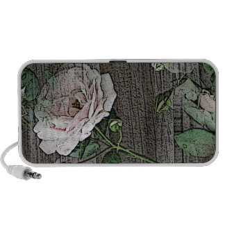 Rose on Weathered wood Travelling Speaker
