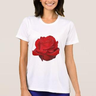 Rose on White T Shirt