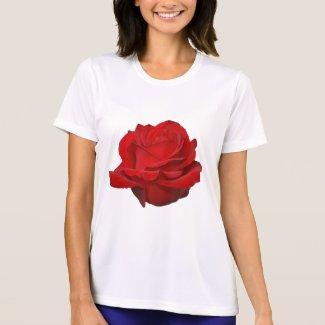 Rose on White shirt