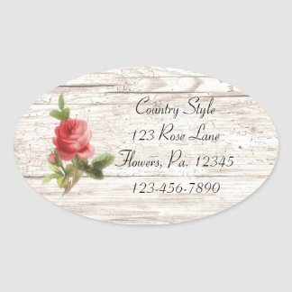 Rose On White Wood Sticker