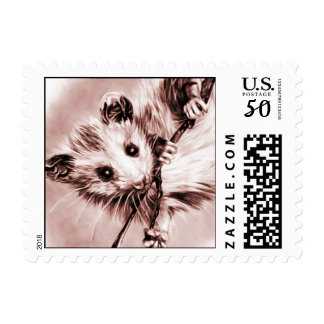 Rose Opossum Postage Stamps (Small)