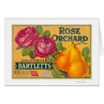 Rose Orchard Pear Crate Label
