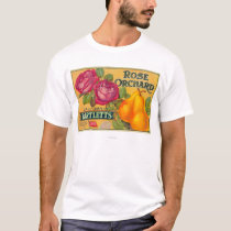 Rose Orchard Pear Crate Label T-Shirt