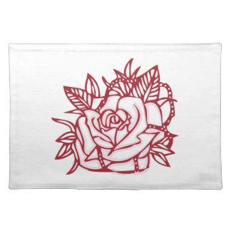 Rose Outline Cloth Place Mat