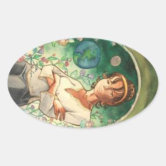 Rose Oval Sticker