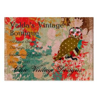 Rose Owl Boho Vintage  Business Cards