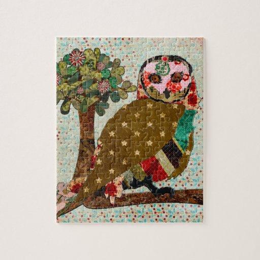Rose Owl Floral Puzzle