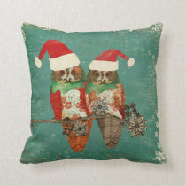 Rose Owls Christmas MoJo Pillow