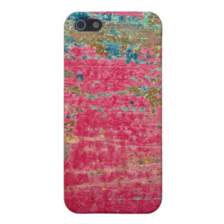 Rose Painted Metal Texture iPhone SE/5/5s Cover