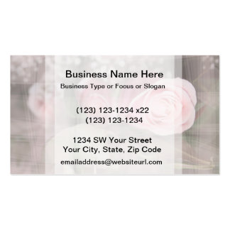 rose painted over buds grunged flower image pink Double-Sided standard business cards (Pack of 100)
