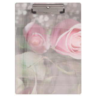 rose painted over buds grunged flower image pink clipboard