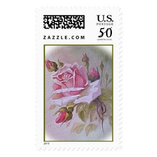Rose Painting stamp