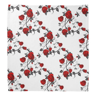 Rose Pattern Bandana