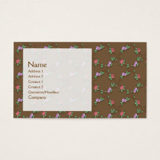 Rose Pattern Business Card