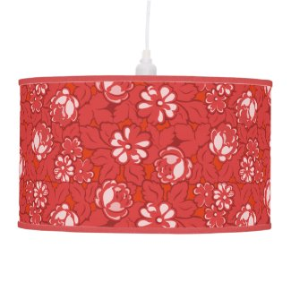 Rose pattern in red ceiling lamp